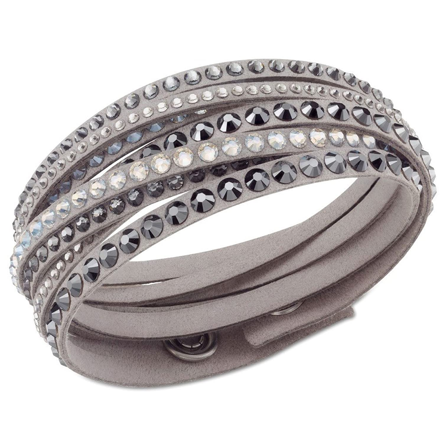 Swarovski JWSW5 , 5021033 Women\u0027s Fabric Wraps Gray Bracelet Amazon.co.uk  Jewellery