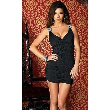 Amazon Stara Sexy Dress With Rhinestone Strap Detail By