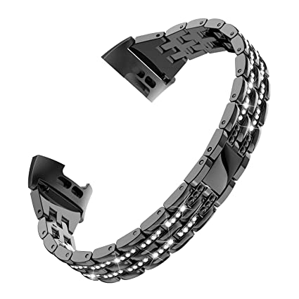 Amazon com: TOYOUTHS Compatible with Fitbit Charge 3 Bands Women