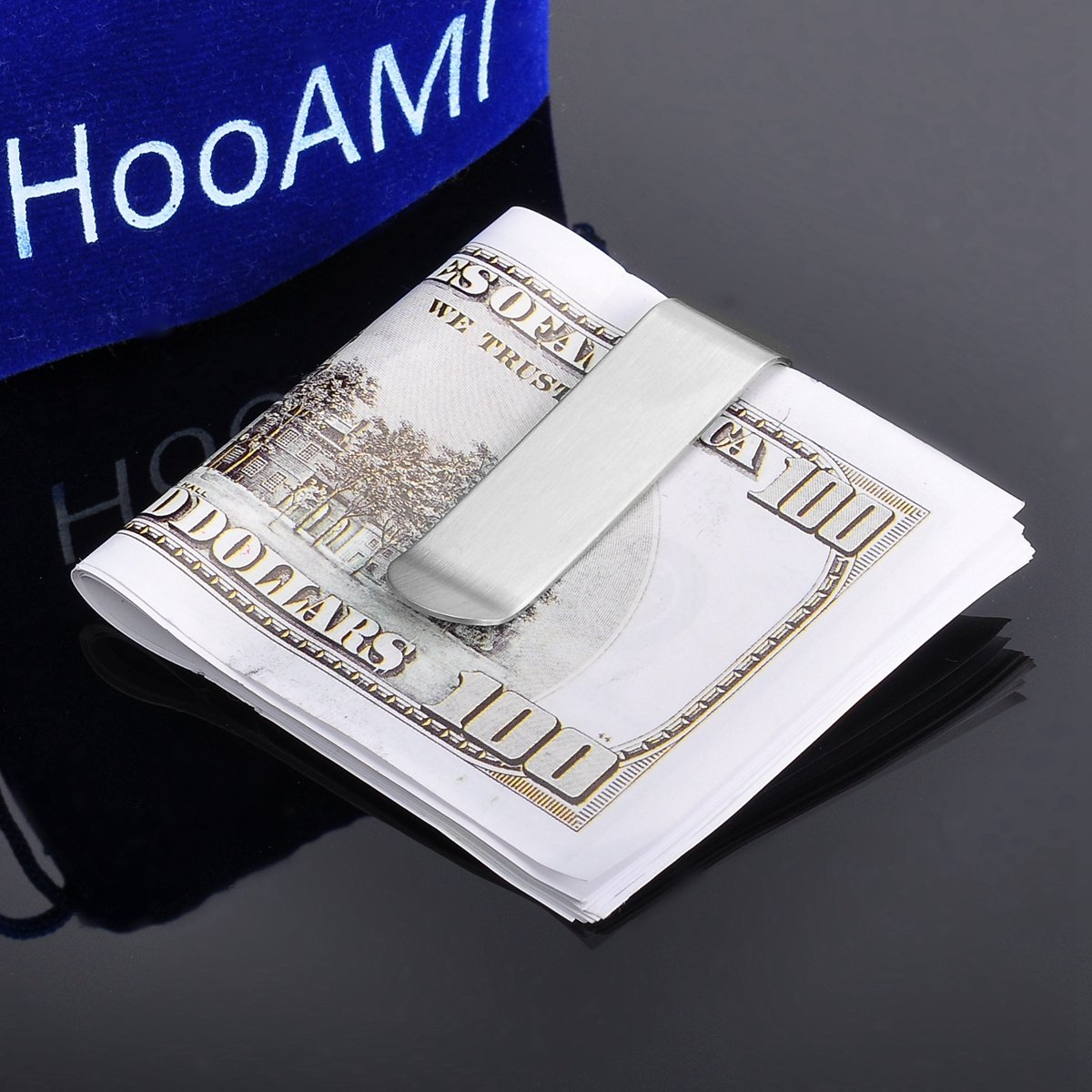 Classic Silver Cash Money Clip Credit Card Holder Stainless Steel