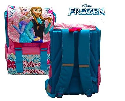 Kit escolar (incluye mochila y material) WD16170 - PRINCESAS DE FROZEN de DISNEY