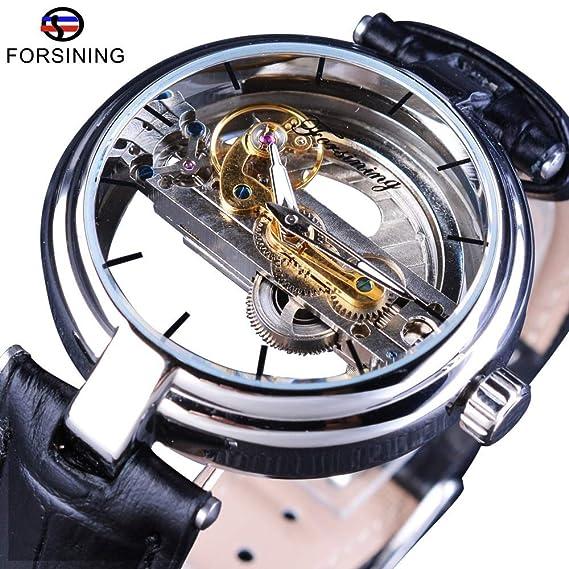 HWCOO Relojes mecánicos Reloj mecánico automático Resistente al Agua Forsining para Hombre Reloj Deportivo con cinturón (Color : 1): Amazon.es: Relojes