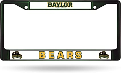 Dark Green Rico Industries NCAA Baylor Bears Team Colored Chrome License Plate Frame