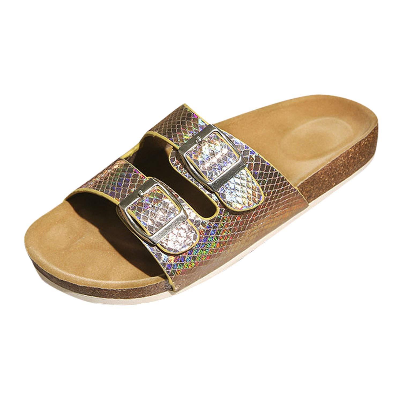 Frestepvie Unisex Erwachsene Arizona Birko-Flor Pantolette Elegant Bio Clogs Tieffu/ßbett Sandale Slipper Sommer Flach Gizeh Schuhe