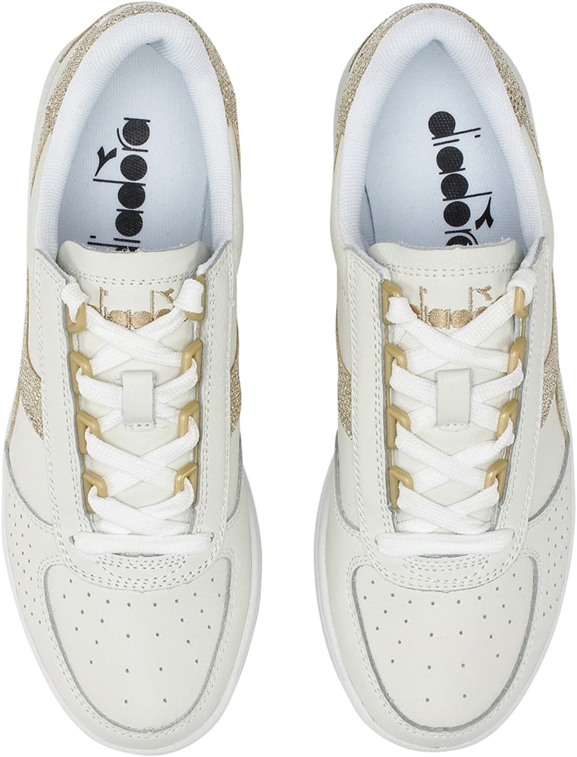 Diadora - Sneakers B.ELITE L METALLIC WN pour femme C1070 Or Blanc