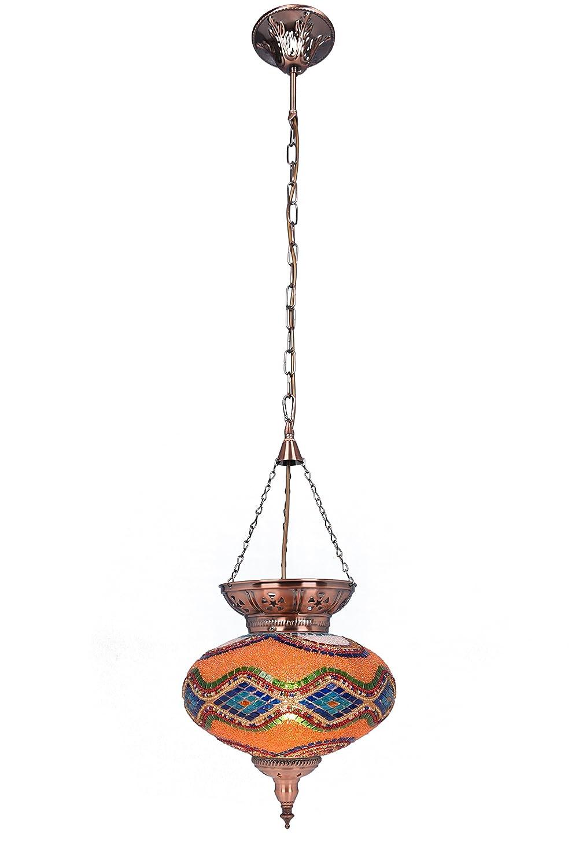 Interfan Jaipur Lámpara De Techo Colgante Multicolor 25 cm ...