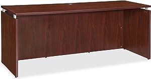 Lorell LLR68688 Executive Desk, Mahogany