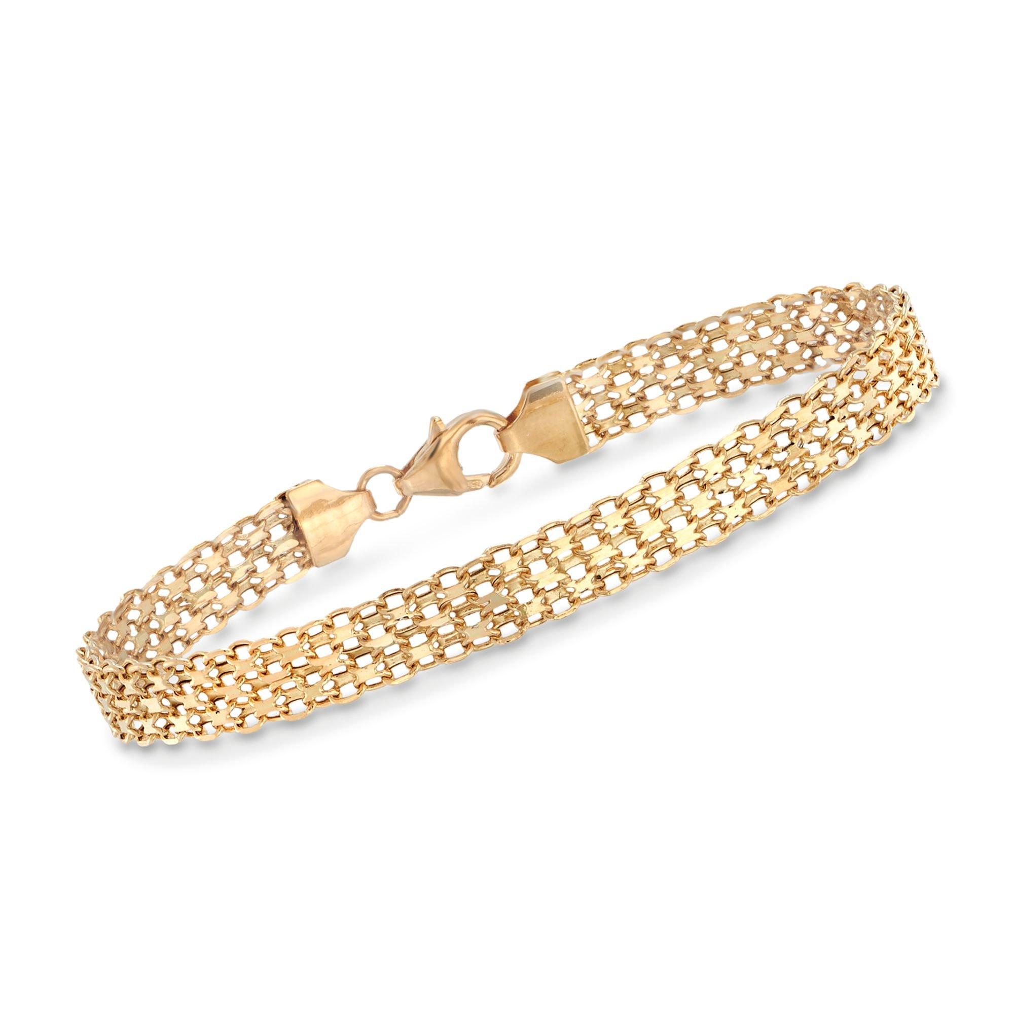 Ross-Simons Italian 18kt Yellow Gold Bismark-Link Bracelet