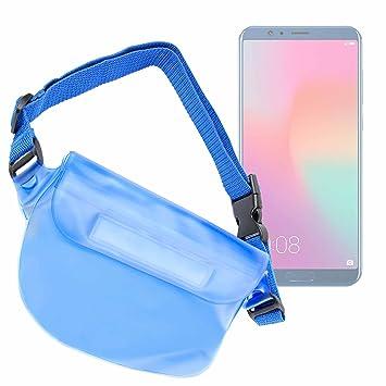 DURAGADGET Riñonera Azul para Smartphone Huawei Honor 10 / LG V35 ...