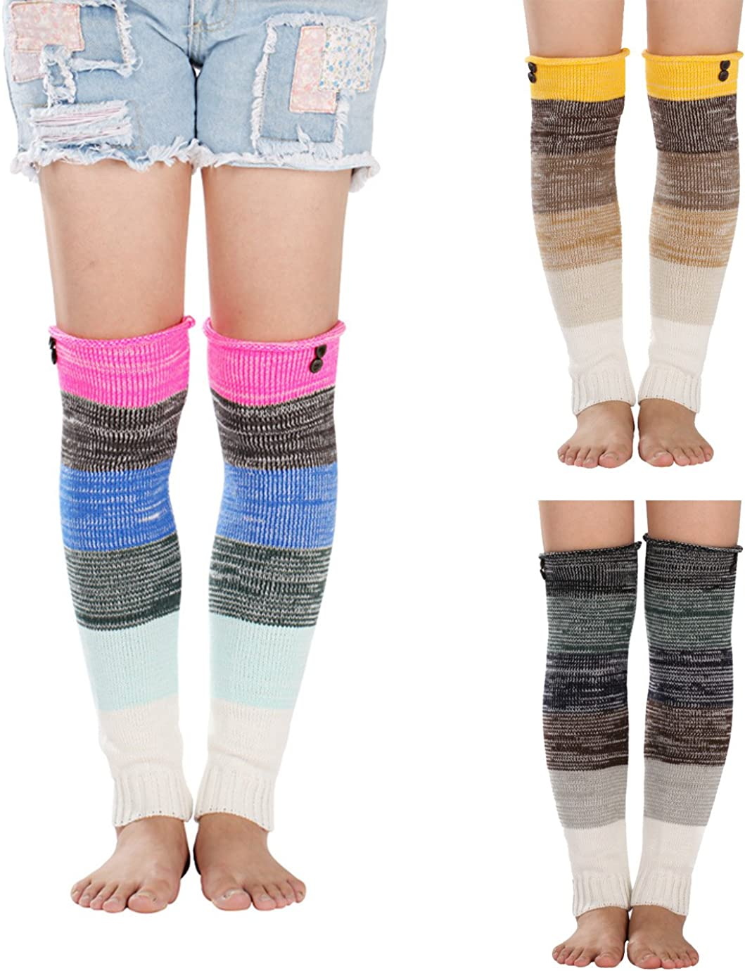 3 Pack | Tights Thick /& Warm Cable Knit Detail High Waist