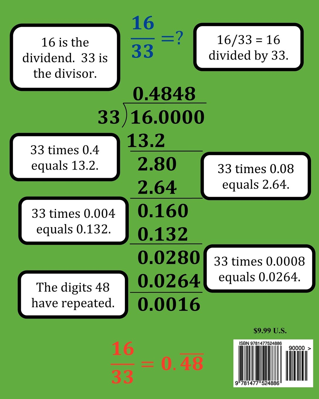 Fractions, Decimals, & Percents Math Workbook (Includes Repeating ...