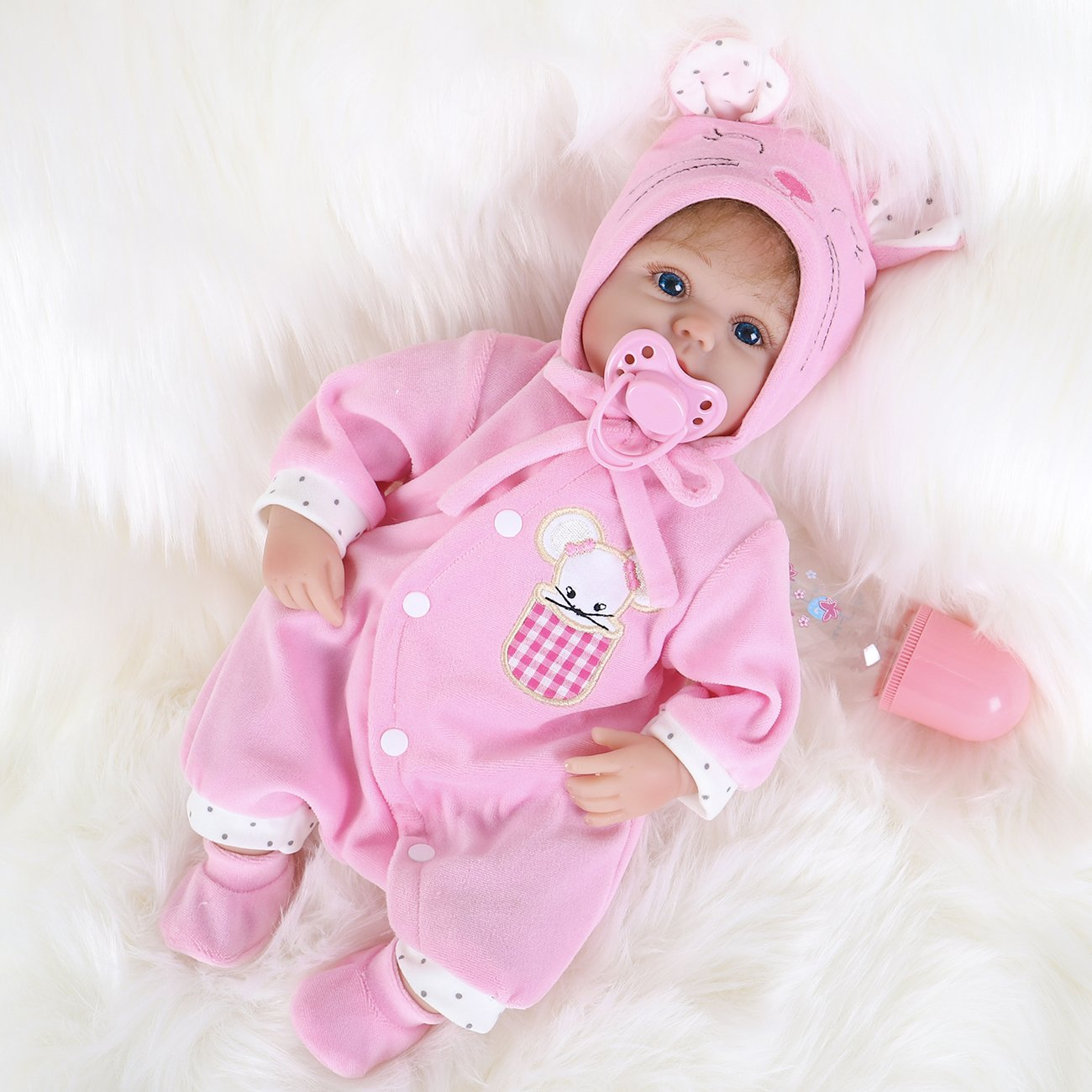 200055807073 Amazon.com: ENA Reborn Baby Doll Realistic Silicone Vinyl Baby 16 inch  Weighted Soft Body Lifelike Doll Gift Set for Ages 3+: Home Improvement