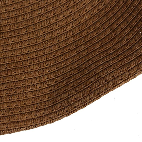 3112386f6691a Hotaru Summer Packable Blue Big Brim Straw Hat Women Beach Floppy Hat at Amazon  Women s Clothing store