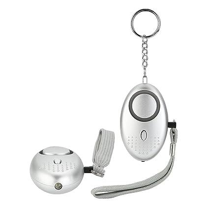 TOROTON 2 PCS Alarma Personal, Seguridad Alarmas Pánico Alarma Auto Protección Personal Anti Agresión con LED para Disuadir y Proteger contra el ...