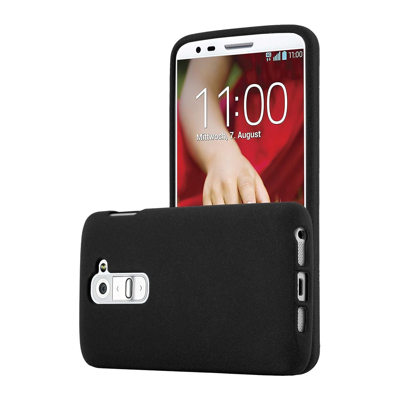 Cadorabo Funda para LG G2 Mini en Frost Negro - Cubierta Proteccíon de Silicona TPU Delgada e Flexible con Antichoque - Gel Case Cover Carcasa Ligera