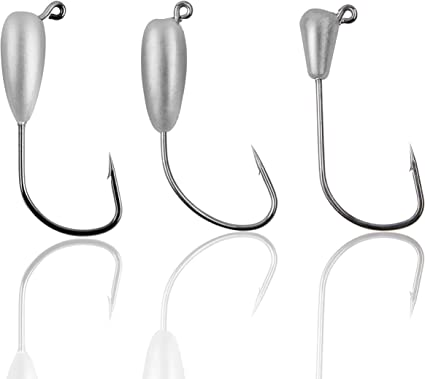 Sharp Pointed//Round head Lead Head Hook Jigging Bait  Carbon Steel Durable Head