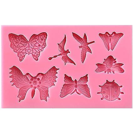 Insects - Molde de silicona para decoración de tartas de fondant, decoración de cupcakes,