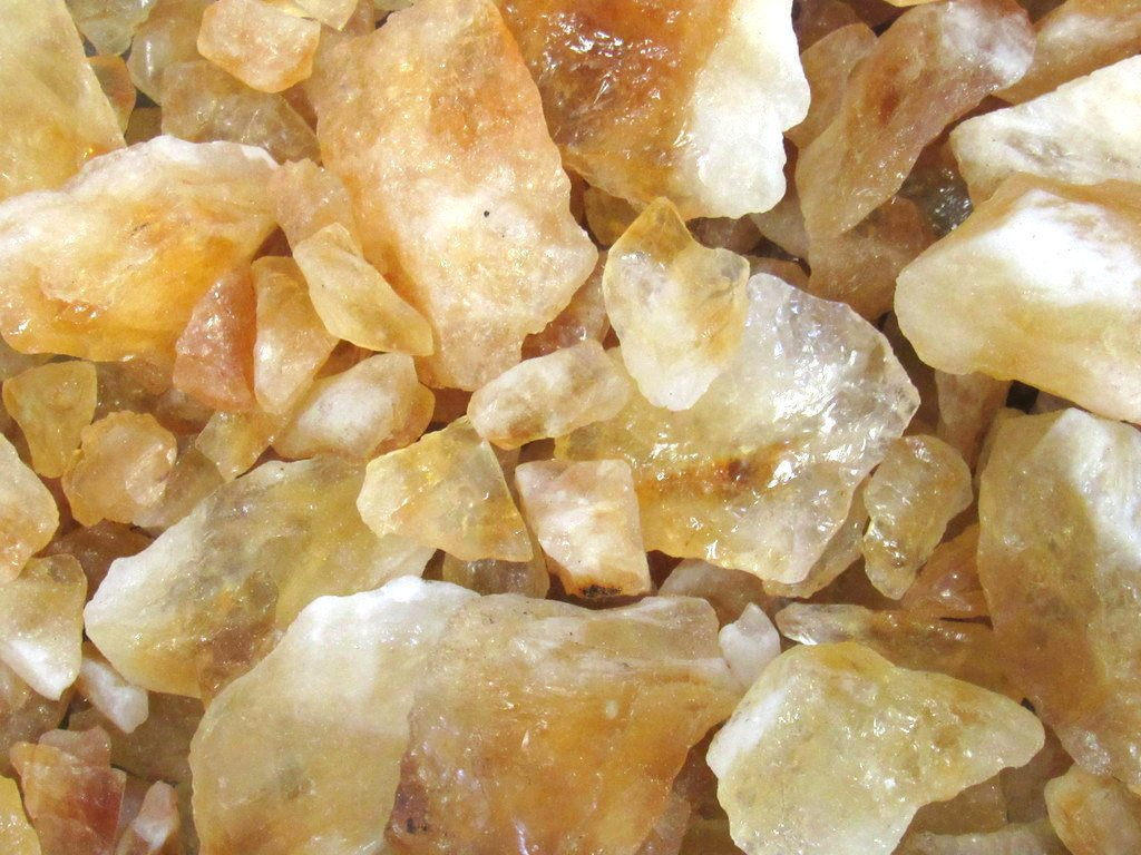 Zentron Crystal Collection Citrine Rough Bulk Stones and Velvet Pouch (1 Pound)