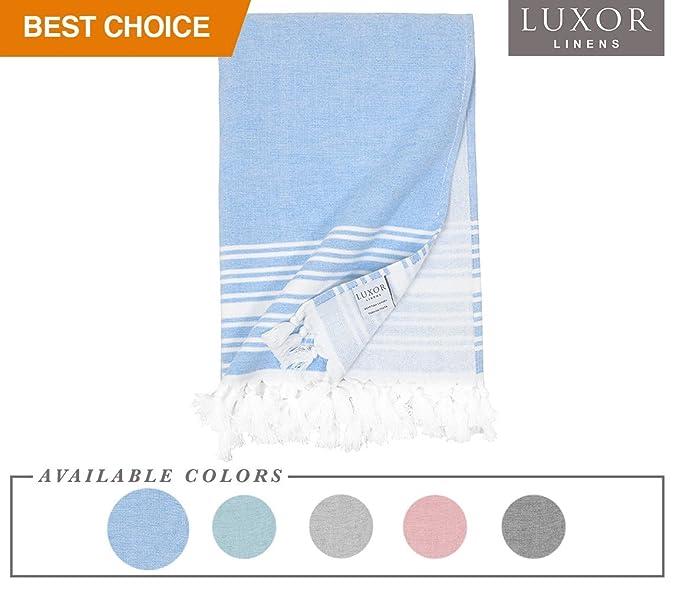 4f4511884c Luxor Linens - Super Soft Luxury Hotel Quality 100% Cotton Peshtemal Towel  - Imani Collection