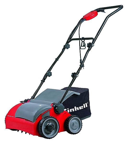 Einhell RG-SA 1433 - Escarificadora eléctrica (1400W, 230V, 3 niveles de profundidad, ancho de trabajo: 33cm, capacidad de bolsa: 28 L, con rodillo ...