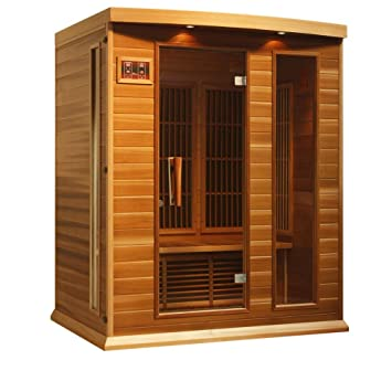Maxxus 3 Person Low EMF Far Infrared Carbon Heater Sauna Red