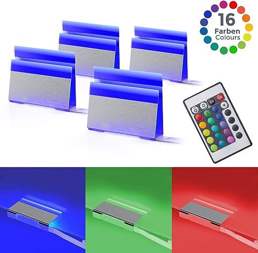 Pinzas iluminacion para superficies, Pack de 4, Luz de multicolores LED, incl. Mando a distancia: Amazon.es: Iluminación