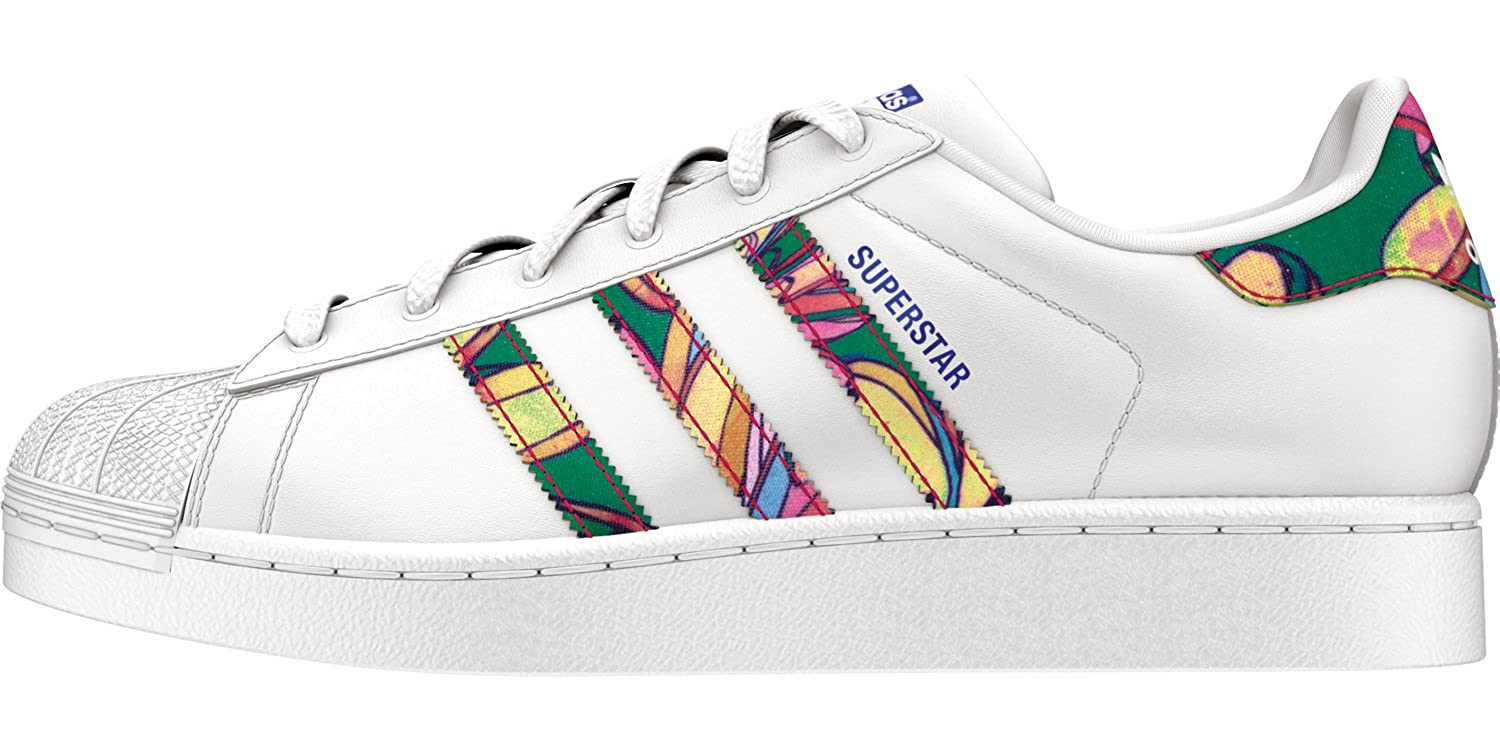 Adidas Originals Superstar W Damen-Turnschuhe S75988 Weiß MultiFarbe