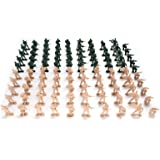 Hautton Plastic Army Men Set, 100 Pcs OD Green and Tan Toy Soldier Figures Playset for Age 3+ Boys Kids Children