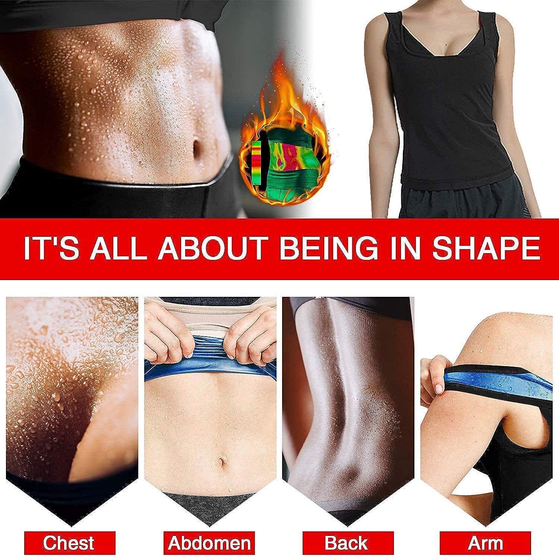 Sauna Sweat Vest for Women Waist Trainer Corset Sweat Tank Top Enhancing Slimming Workout Vest Body Shaper Weight Loss