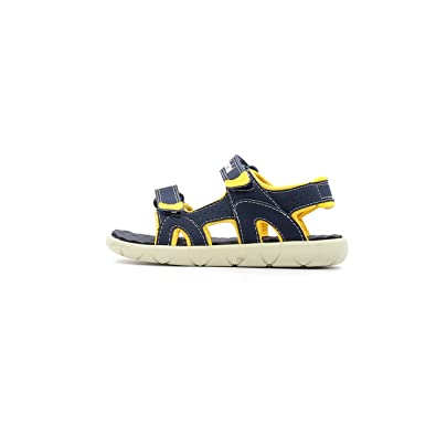 Timberland Perkins Row 2-Strap Navy/Yellow Synthetic 27 EU