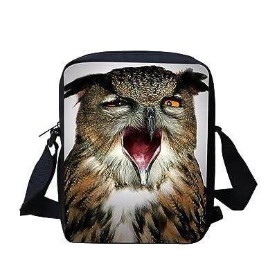 3D Owl Kids Messenger Bags for School Cross Body Shoulder Bag Cute for Travel