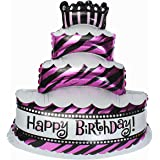 Grandshop 50476 Happy Birthday Cake Shape Foil Toy Balloon (Pack Of 1) - Multi Color