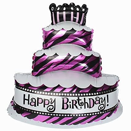 Grandshop 50476 Happy Birthday Cake Shape Foil Toy Balloon Pack Of 1
