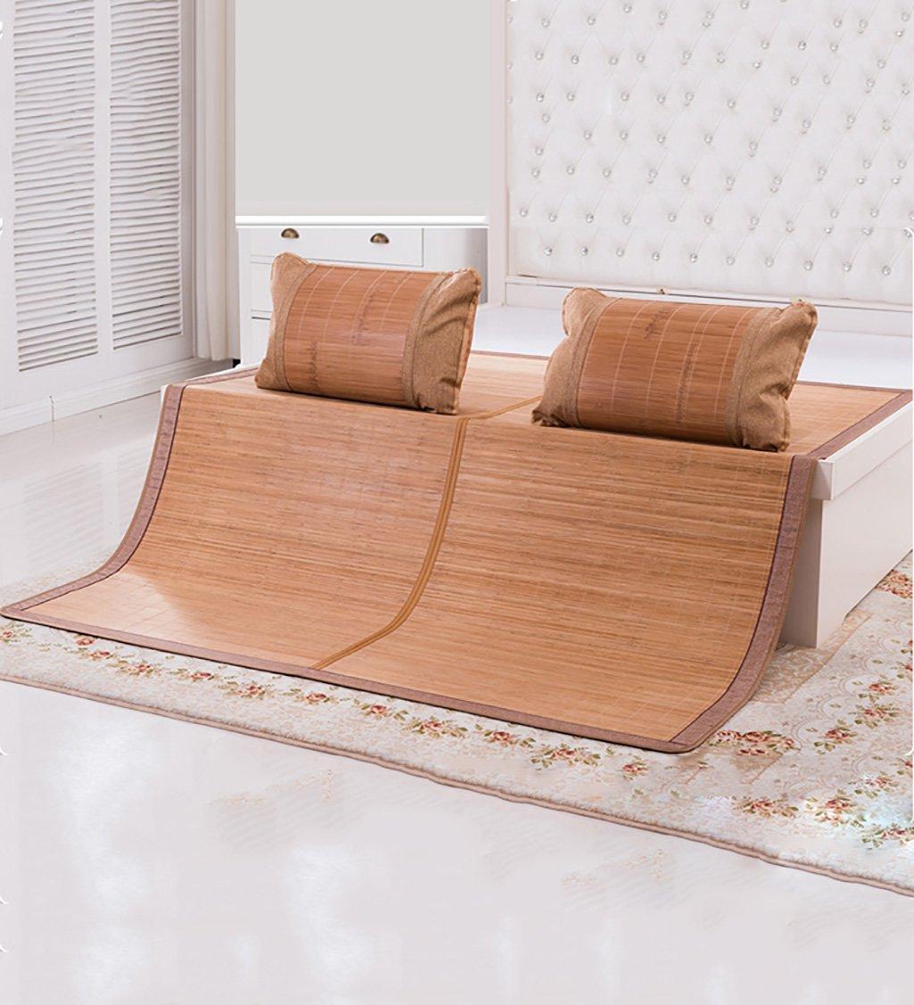 WUFENG Cama Plegable Cama Fresca colchones de bambú colchón Tejido Uso de Dos Caras para el Verano-Cama Individual/Cama Doble (Color : B, ...