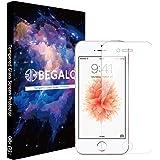 [BEGALO] iPhone SE / iPhone5s / iPhone5 / iPhone5c 用 ガラスフィルム 保護フィルム 【日本製素材旭硝子】 強化ガラス 0.33mm 硬度9H 飛散防止 指紋防止 高感度タッチ 3Dtouch対応 気泡ゼロ 自己吸着 高透過率 2.5D ラウンドエッジ加工