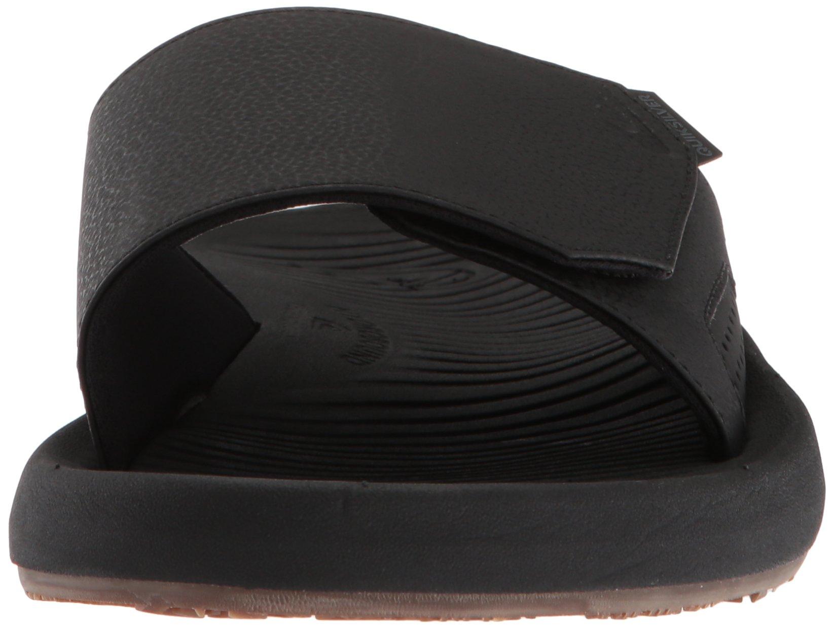 Quiksilver Men's Travel Oasis Slide Sandal, Black/Black/Brown, 8(41) M US by Quiksilver (Image #4)