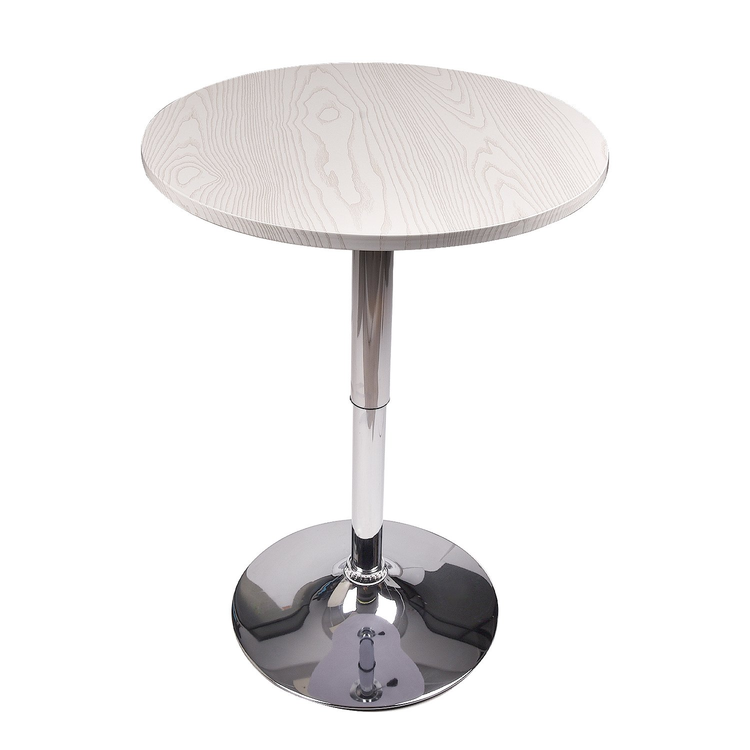 Adjustable Bar Table Swivel Round Pub Table MDF Top with Base for Home Kitchen Bistro