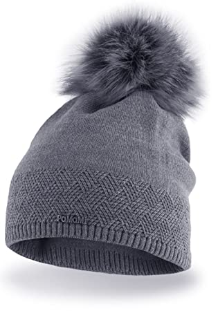 PaMaMi Ladies Thermal Winter Hat Warm Beanie Universal Size Skin-Friendly  EU Product Keeps Head 0e34811bc3a