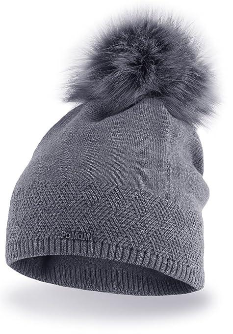 Pacchetto Cappello termico invernale da donna berretto di misura universale  in materiale gentile con la pelle 6afd7ca5f493