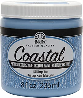 product image for FolkArt Coastal Texture Paint in Assorted Colors (8 ounce), Largo Blue