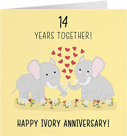 8th Wedding Anniversary Card - Ivory Anniversary - Iconic Collection