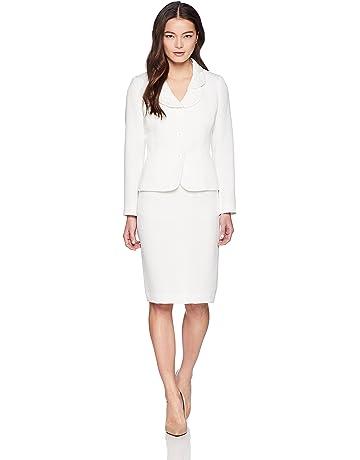 5f7dcb23d6e9b Le Suit Women s Petite Eyelet Jacquard 3 Bttn Petal Collar Suit