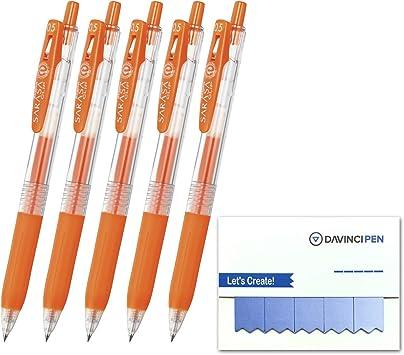 0.3mm 2 red orange pens Zebra Sarasa Push Clip Gel Ink Pen
