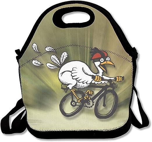 hnyh pájaro andar un bicicleta elegante caja de almuerzo bolsa ...