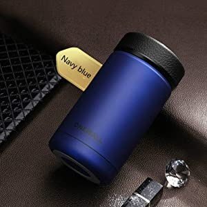 400ml 304 stainless steel vacuum flask kettle thermos coffee glass men's gift thermos bottle protection LU11131734 XI (Color : Blue)
