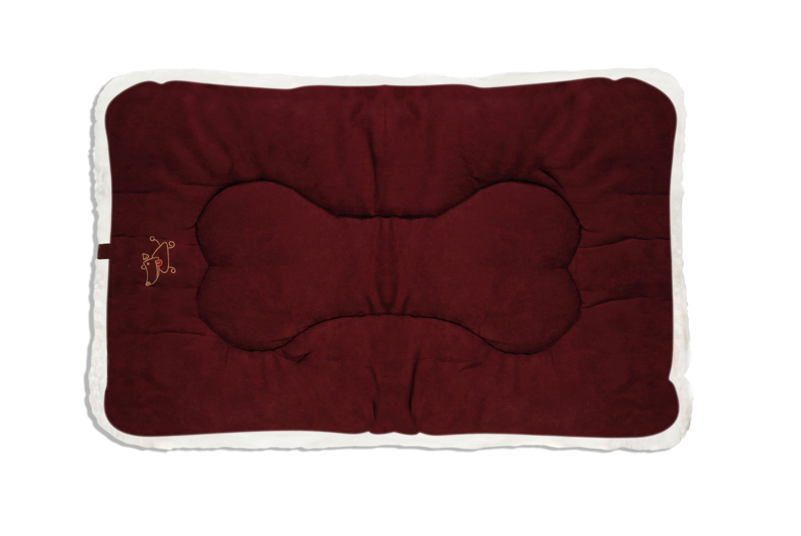 Best Pet Supplies Double-Sided Crate Mat, X-Large, Burgundy Suede