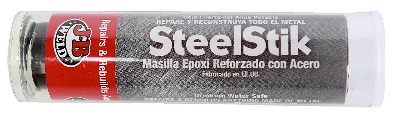 Amazon.com: J-B Weld SteelStik Steel Reinforced Epoxy Putty Stick, 2 oz, 3-Pack: Home Improvement