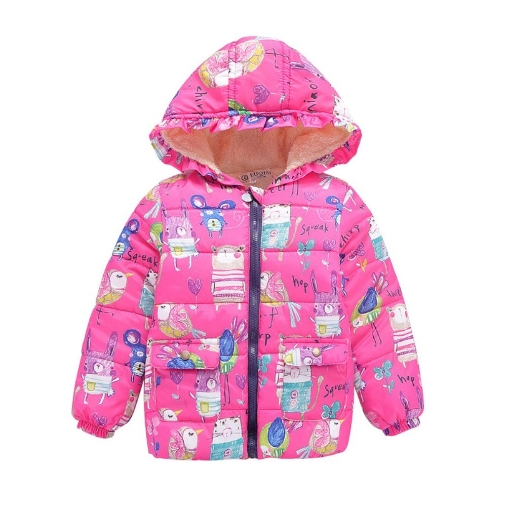 Jlong Baby Girls Boy Winter Warm Printed Butterfly Long Sleeves Coat Jacket Size JLZQP00162