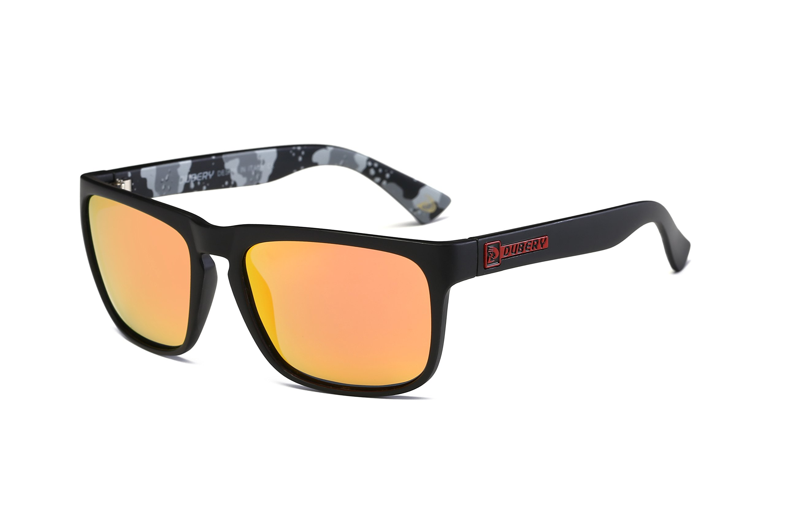 DUBERY Mens Polarized Flying Sunglasses Outdoor Driving Sport Eyewear New (#10) by DUBERY