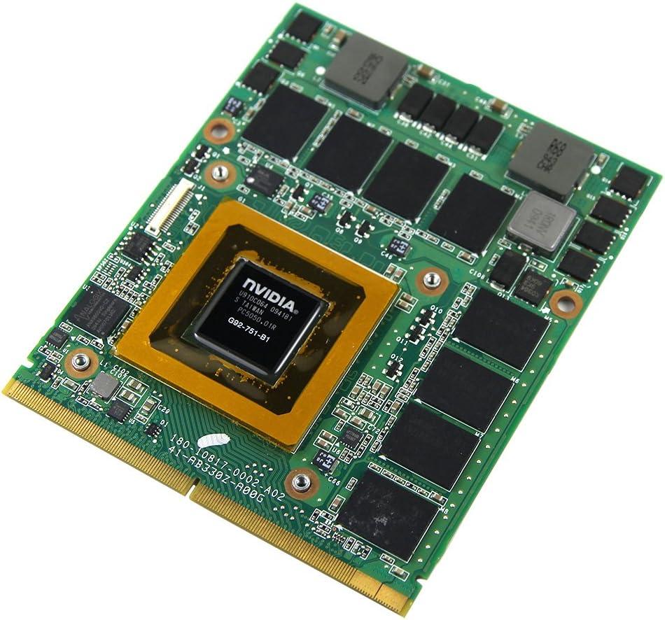 nVidia Geforce GTX 260M GTX260M G92-751-B1 DDR3 1GB Video Graphics Card for Clevo M860tu M570tu M570ru M57ru M57u Laptop Upgrade MXM VGA Board Replacement